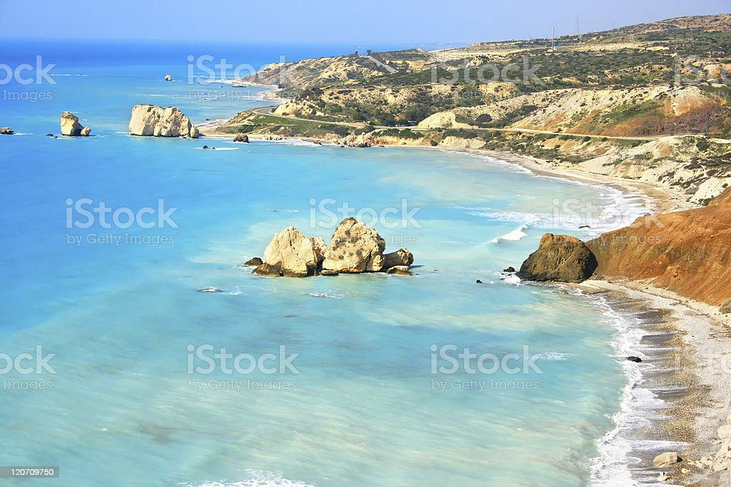 Aphrodite's legendary birthplace in Paphos, Cyprus stock photo