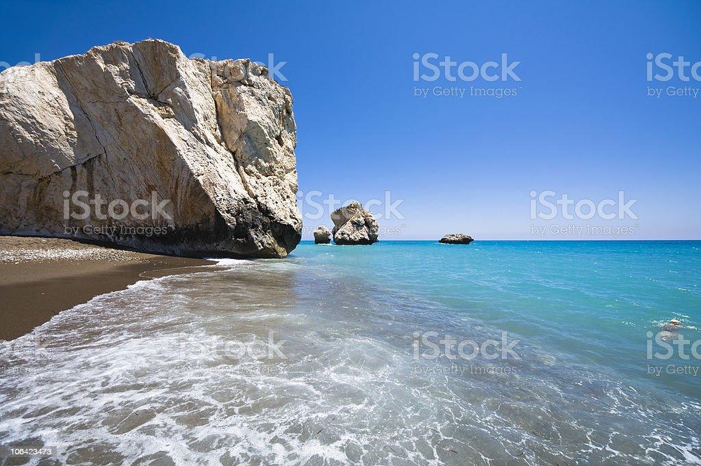 Aphrodite's Rock stock photo