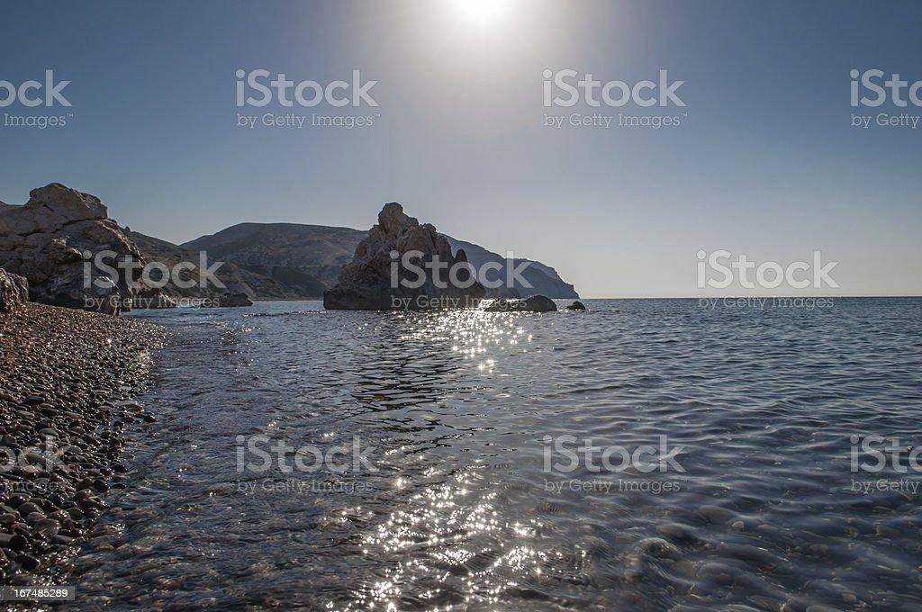 Aphrodite's Rock royalty-free stock photo