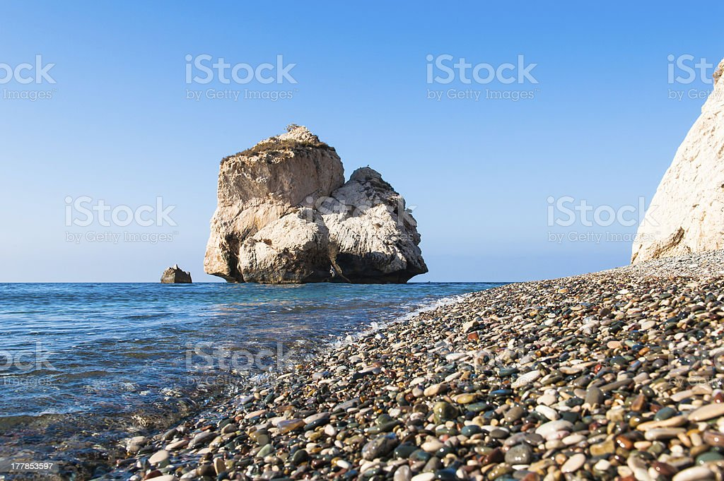 Aphrodite's Rock royalty-free stock photo