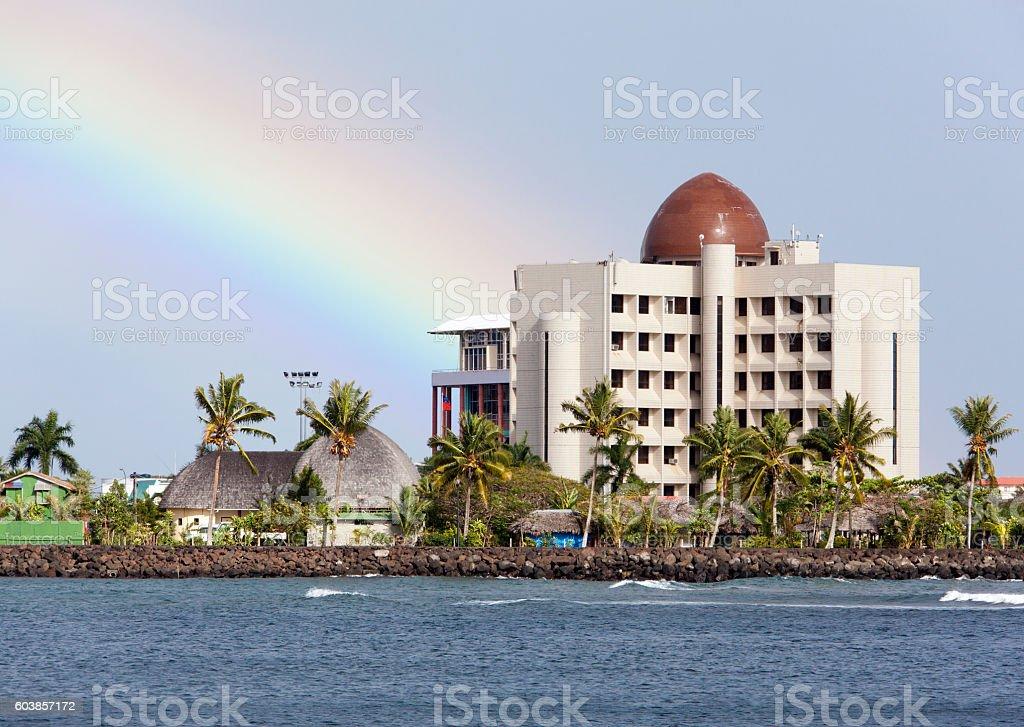 Apia Town Skyline stock photo