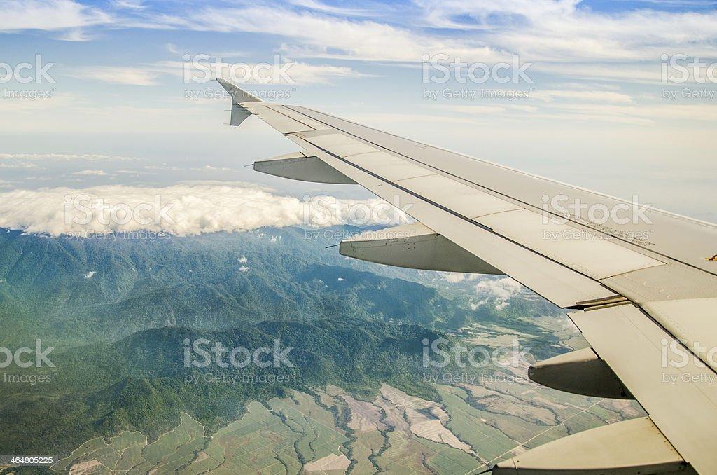 aplane wing stock photo