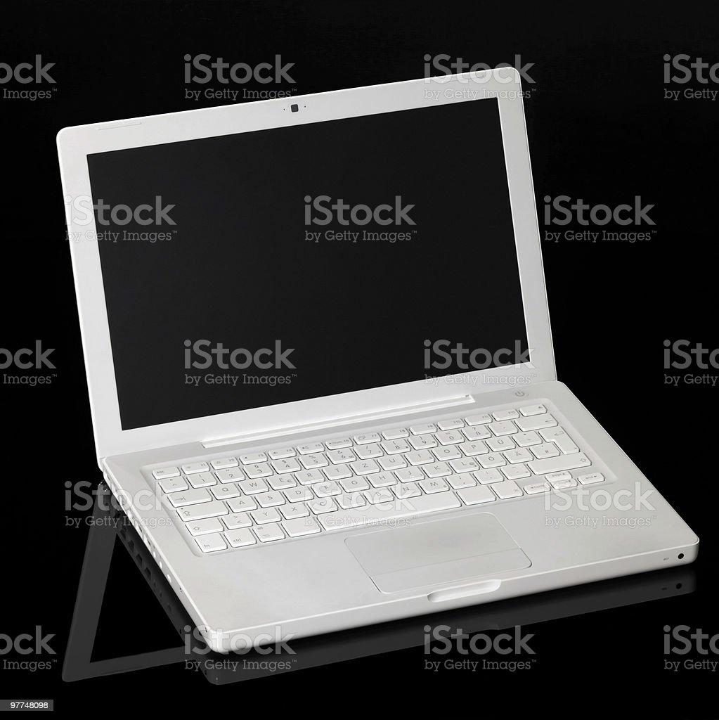 Aple Macintosh laptop stock photo