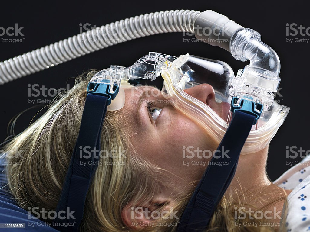 Apnea Medical Test stock photo