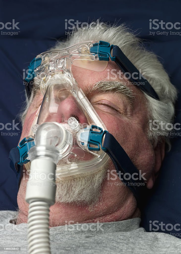 Apnea treatment stock photo