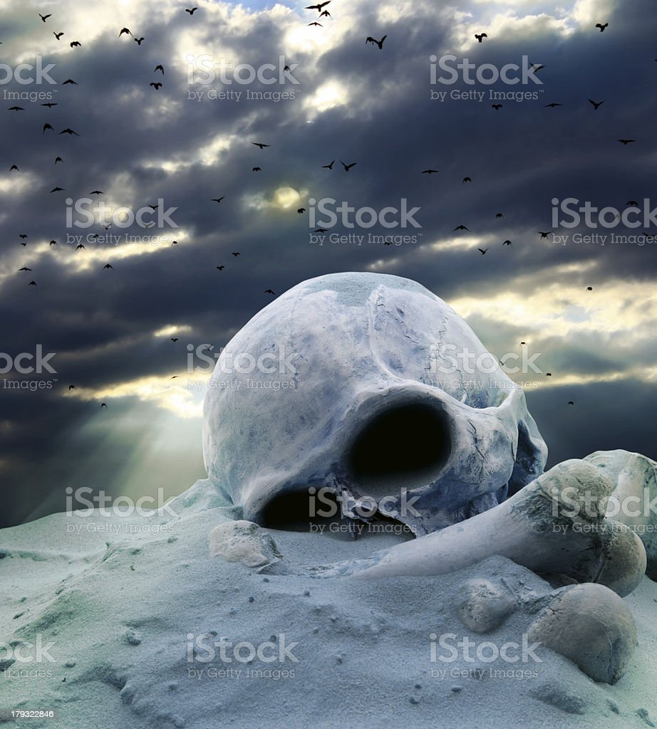 Apocalypse after war stock photo