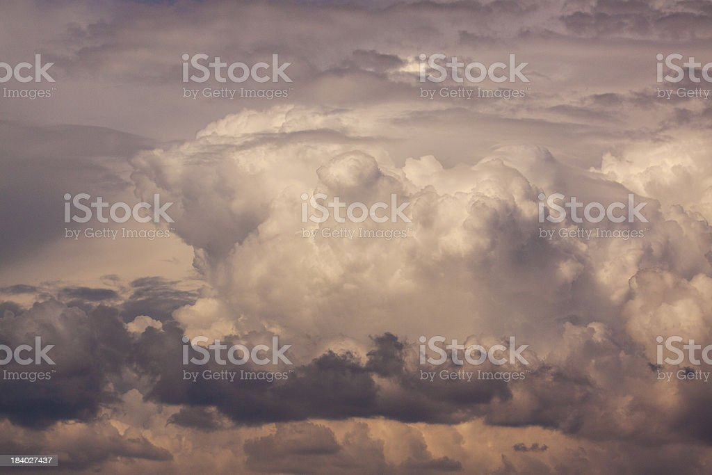 Apocalypse sky stock photo