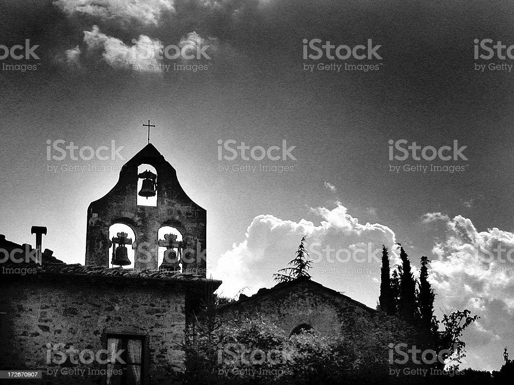 Apocalyptic Church royalty-free stock photo