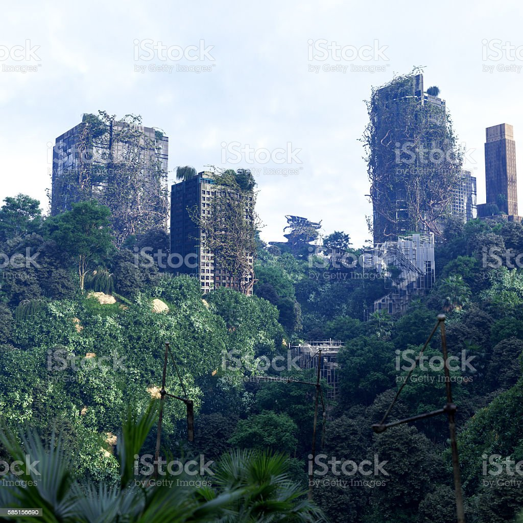 Futuristic Concepts Apocalyptic Concept Background Of Futuristic And Abandoned City