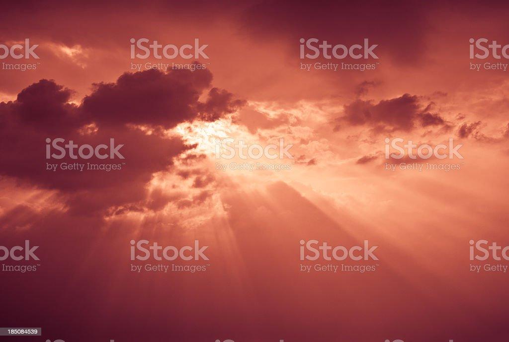 Apocalyptic Red Sky stock photo