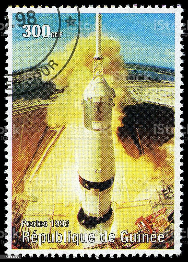 Apollo 11 Saturn 5 launch stock photo