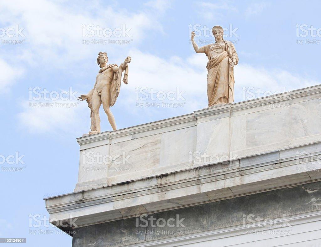 Apollo and Hera in Athens, Greece stock photo