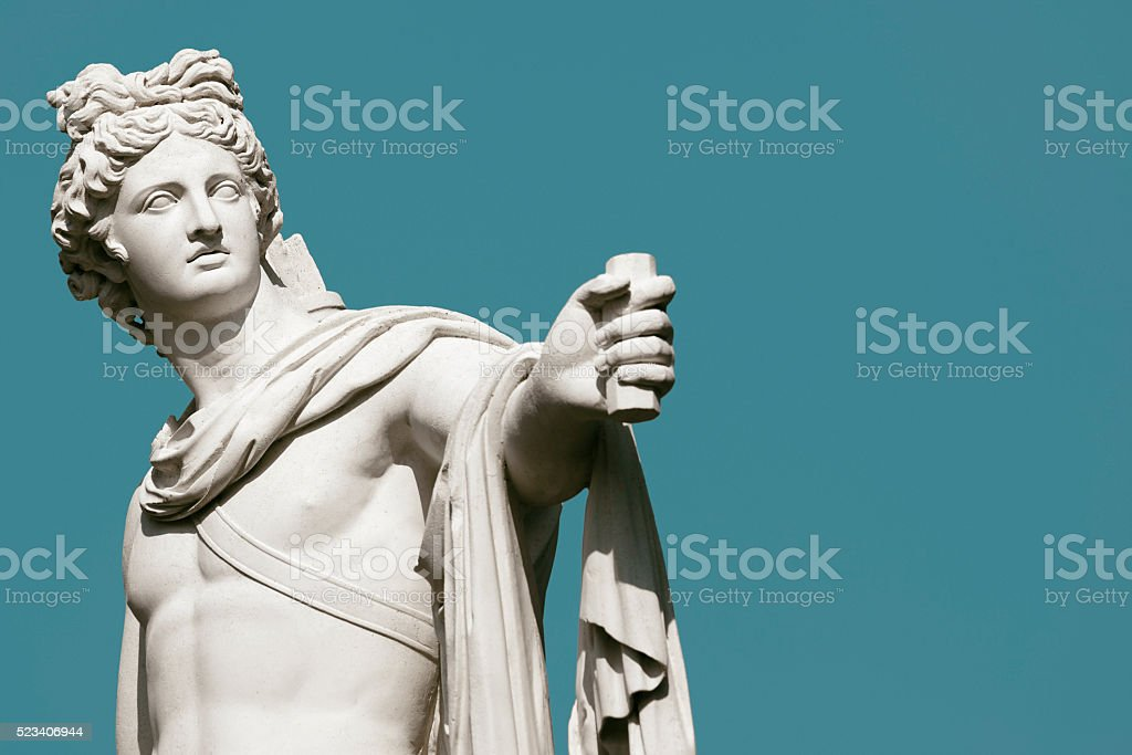 Apollo Belvedere statue stock photo