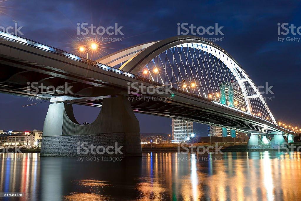 Apollo bridge Bratsilava stock photo