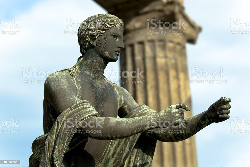 Apollo God statue in Pompeii stock photo