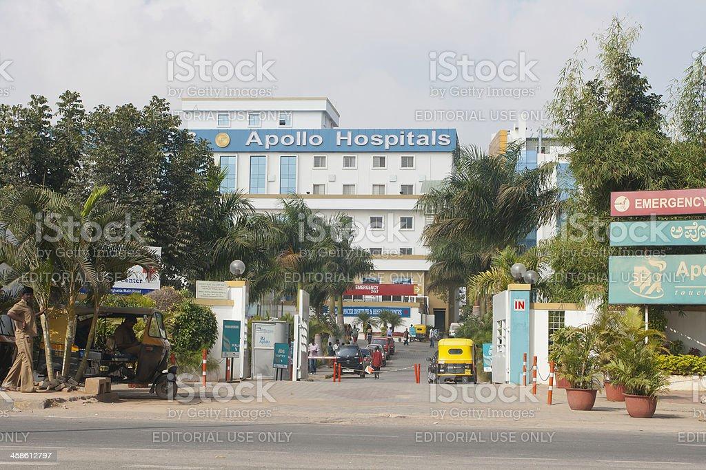 Apollo Hospital, India royalty-free stock photo