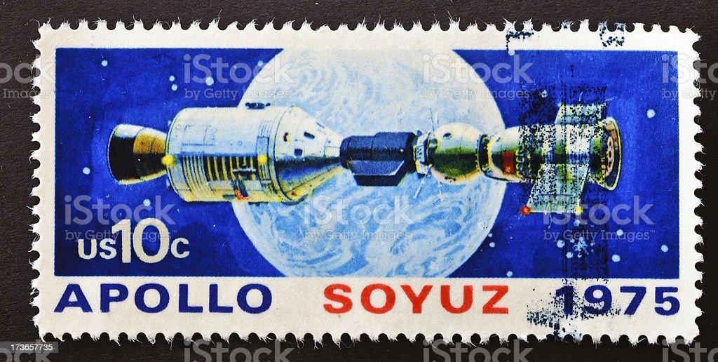 Apollo Soyuz  Stamp stock photo