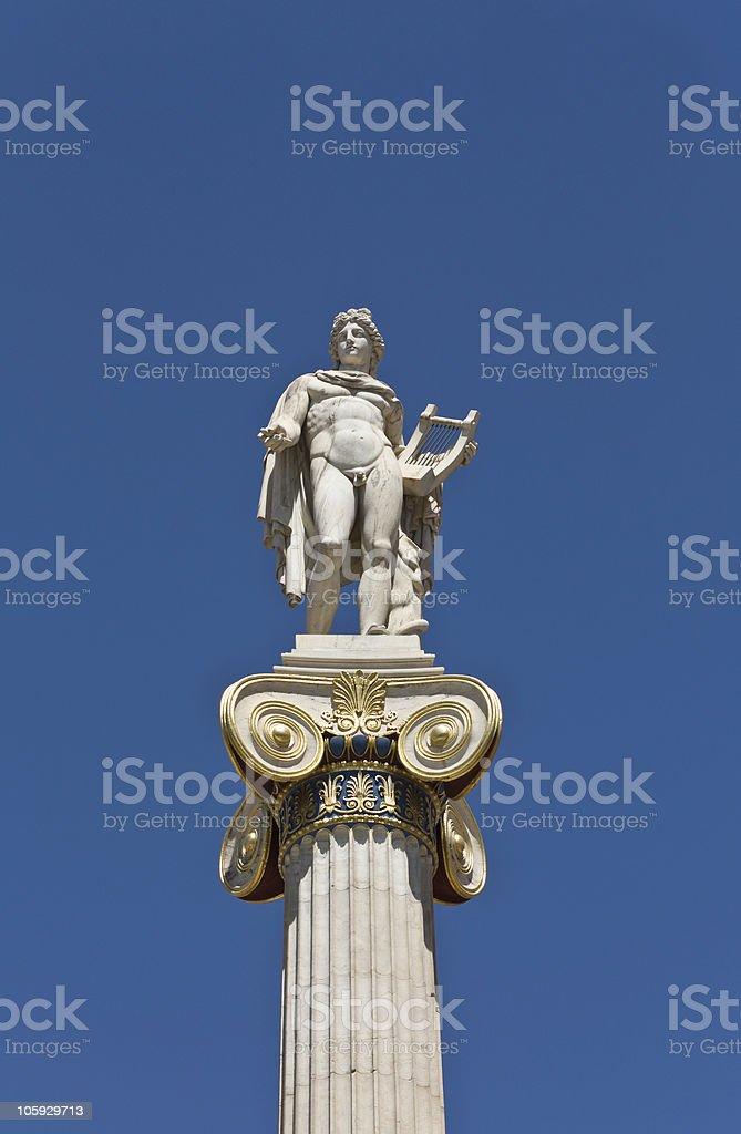 Apollo statue at Athens, Greece stock photo