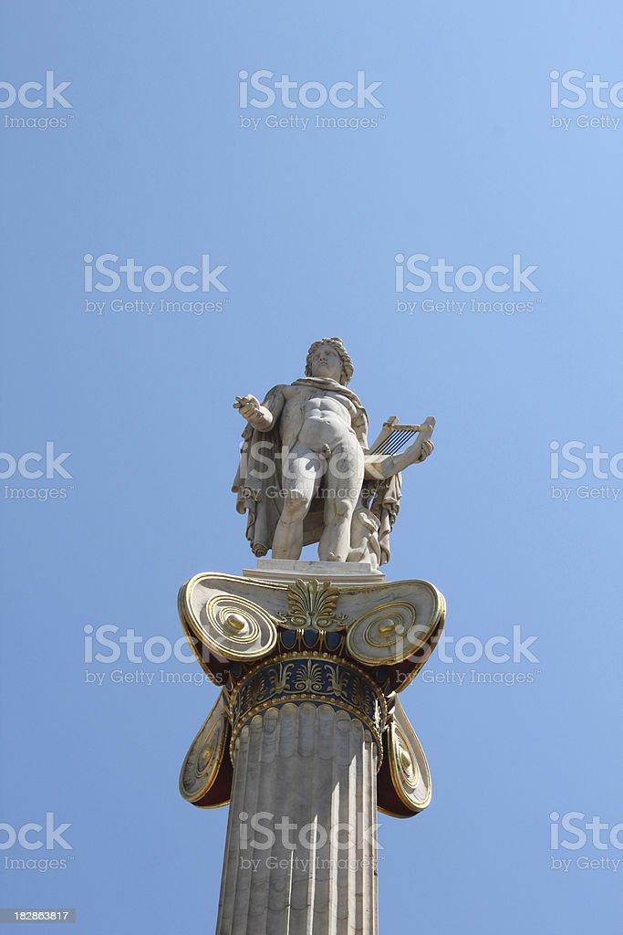 apollo statue greece stock photo