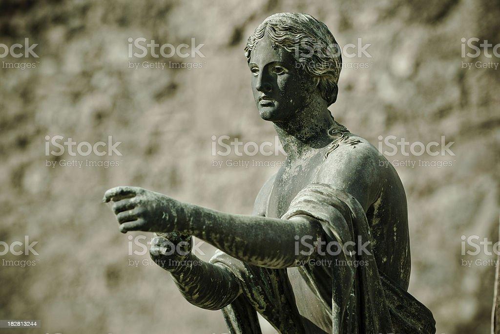 Apollo statue in Pompeii royalty-free stock photo