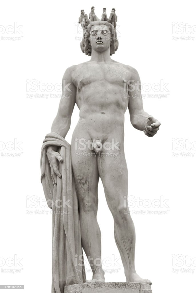 Apollo statue isolated royalty-free stock photo