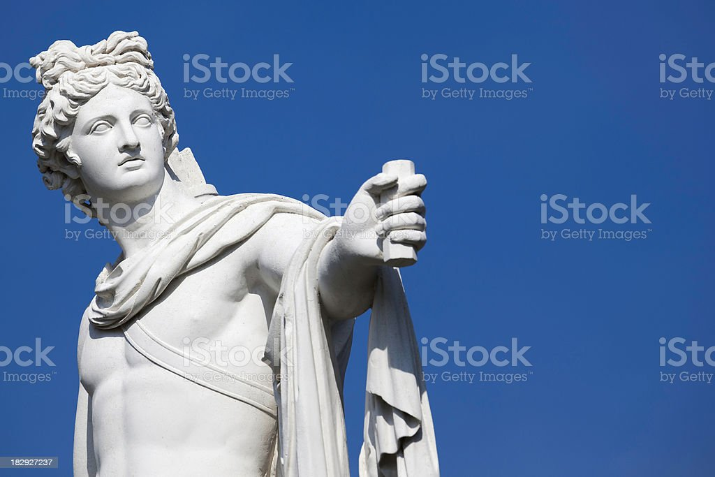 Apollo statue stock photo