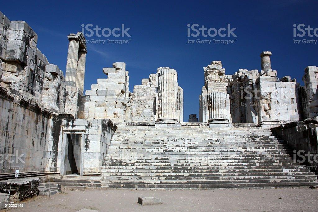 Apollo Tempel von Didyma  in Didim stock photo