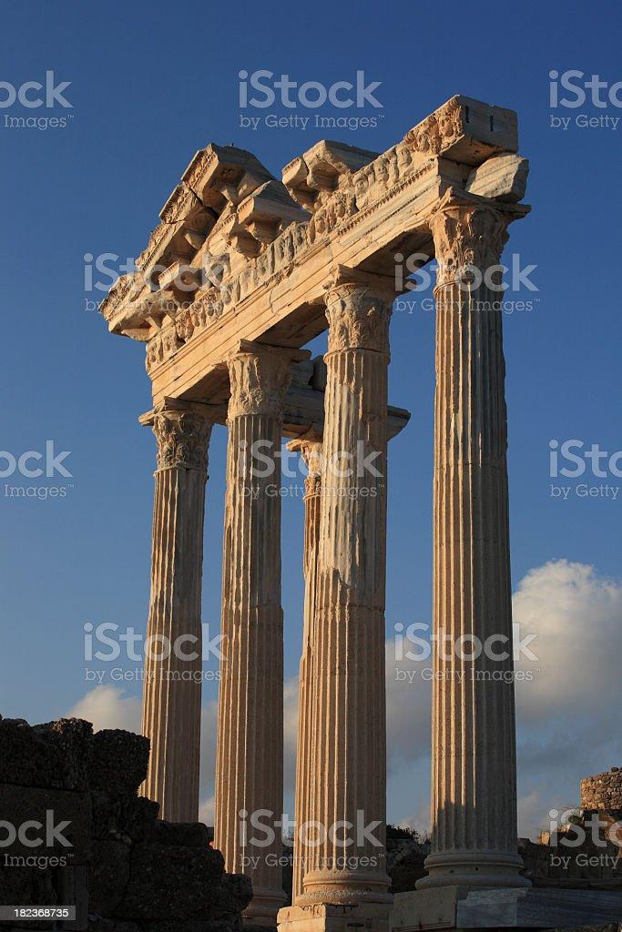 Apollo Temple and athena stock photo