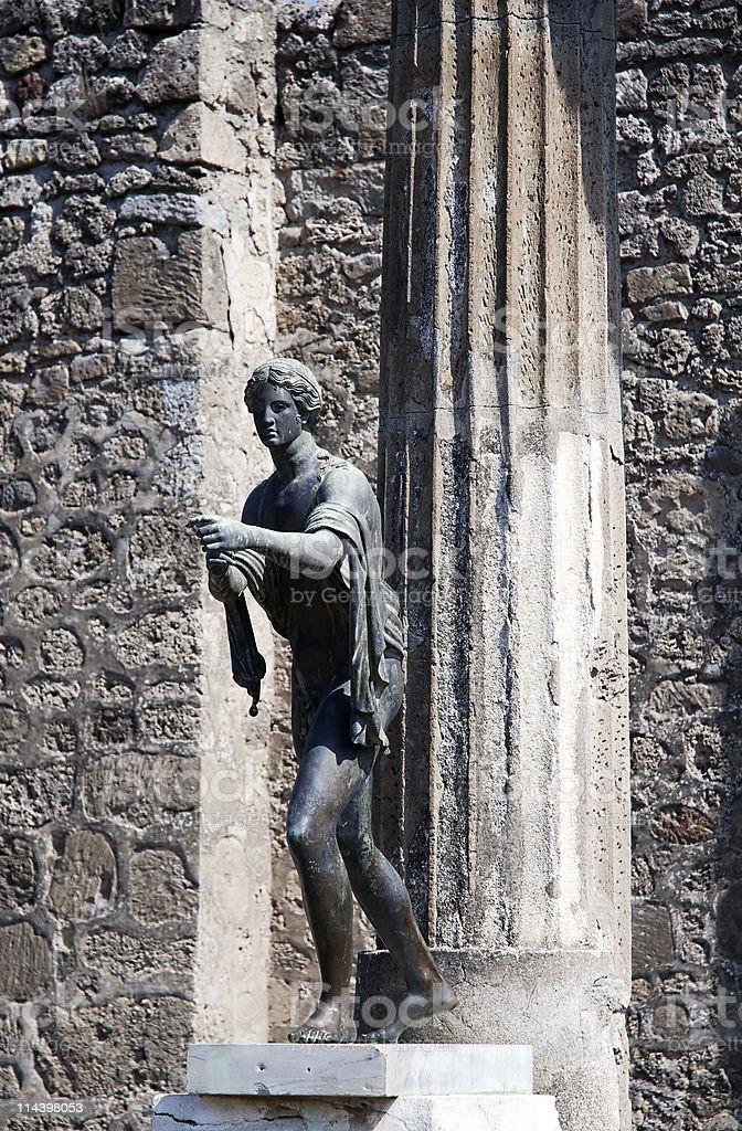 Apollo temple in Pompeii ruins royalty-free stock photo