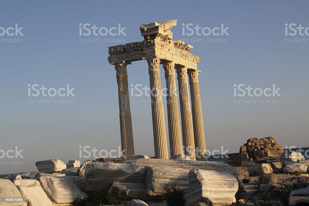 apollo temple in side turkey royalty-free stock photo