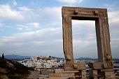 Apollo Temple's entrance (Portara) on the island of Naxos.