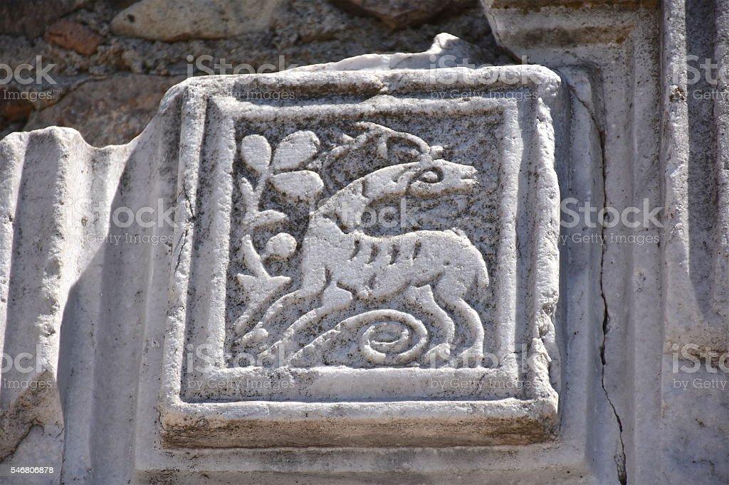 Apollon smintheus marble carvings stock photo