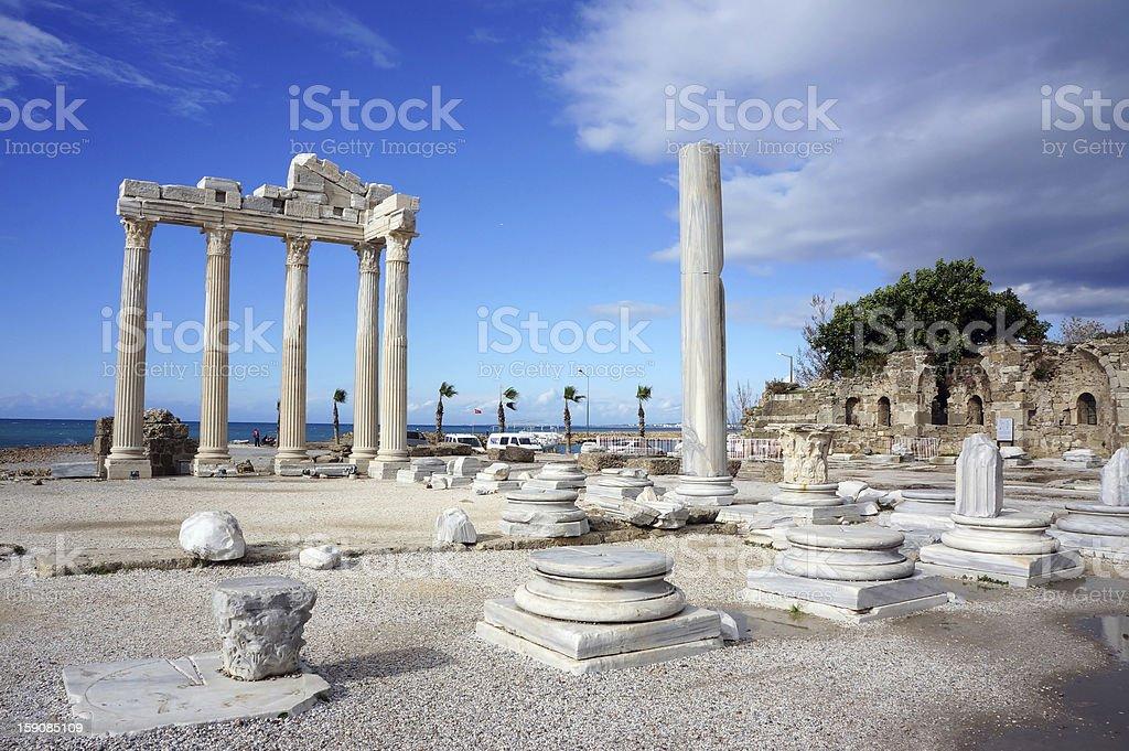 Apollon Temple in Antalya royalty-free stock photo