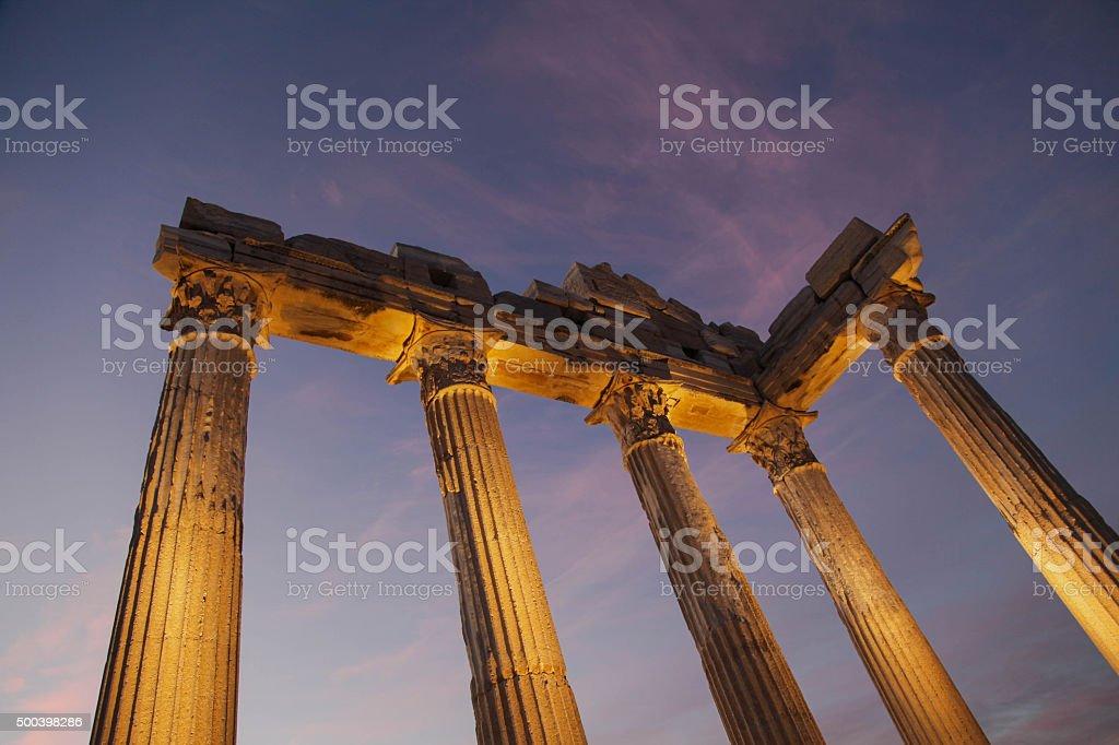 Apollon Temple stock photo