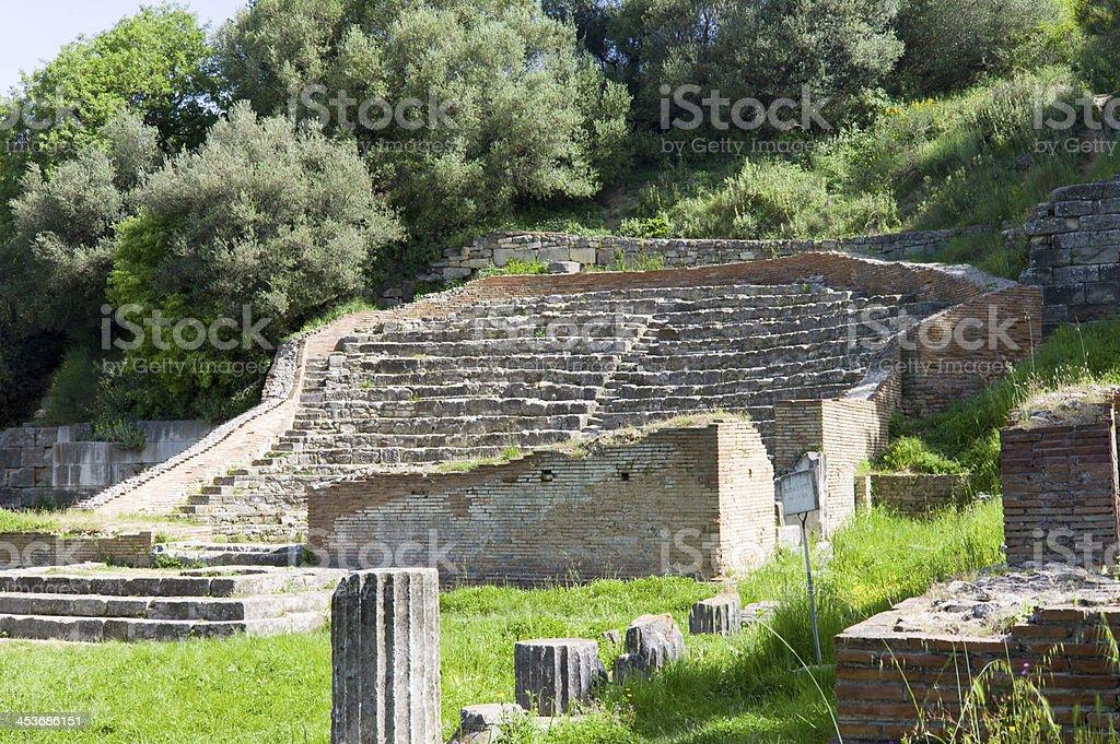 Apollonia Odeon, Albania royalty-free stock photo