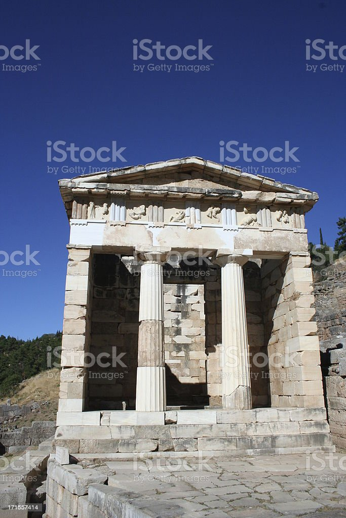 apollo's temple stock photo