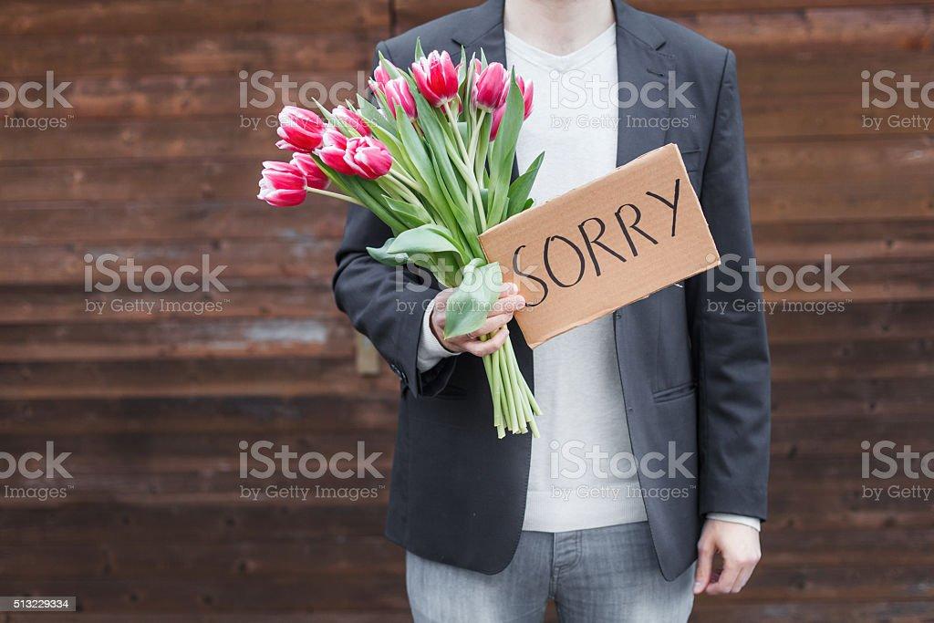 Apologize stock photo