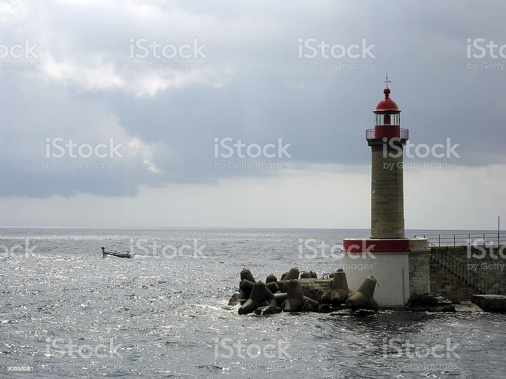 Aport Red Lighthouse royalty-free stock photo