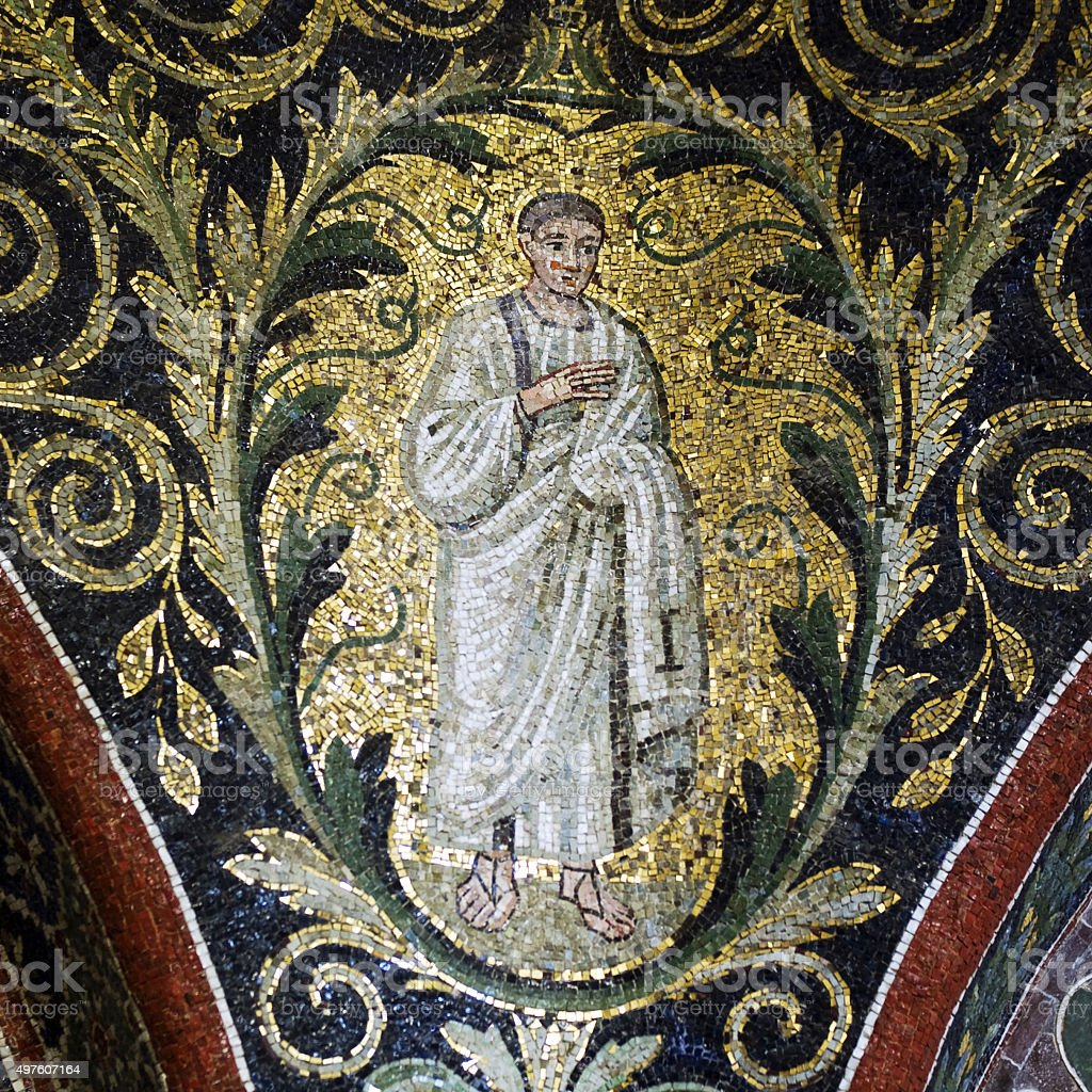 Apostle mosaic detail stock photo