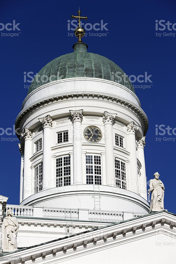 Apostle with key, Helsinki Lutheran Cathedral royalty-free stock photo