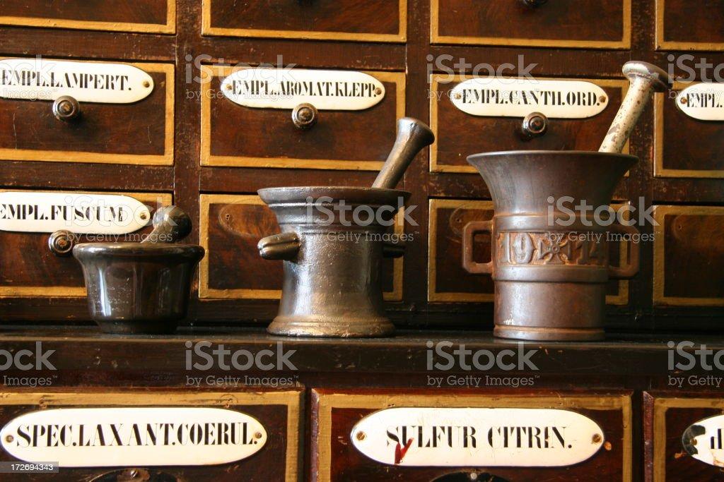 Apothekergefäße stock photo