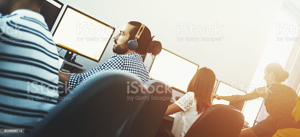 App developers at work. stock photo