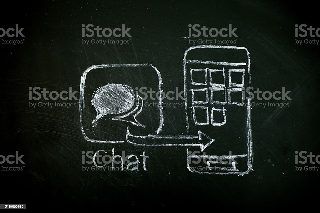 App-Entwicklung Chat stock photo
