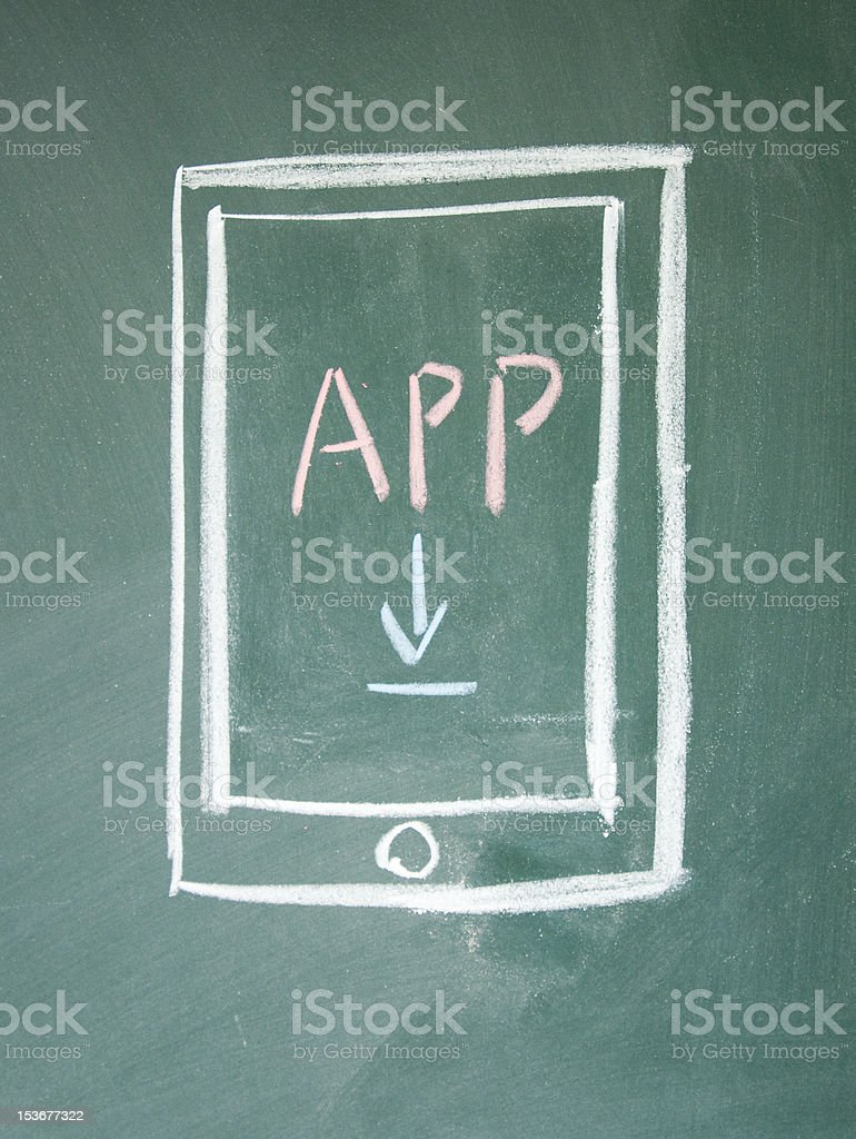 app download sign royalty-free stock photo