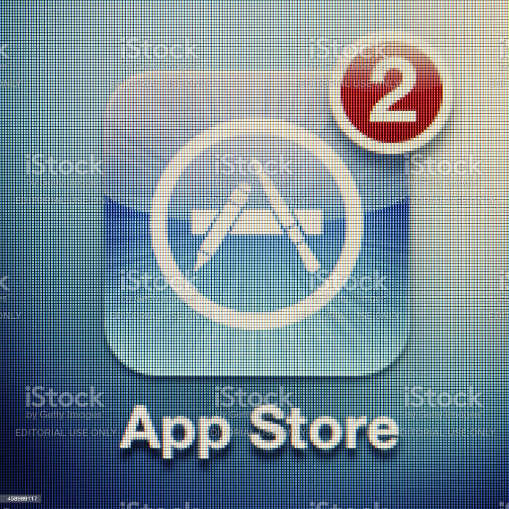 App Store royalty-free stock photo