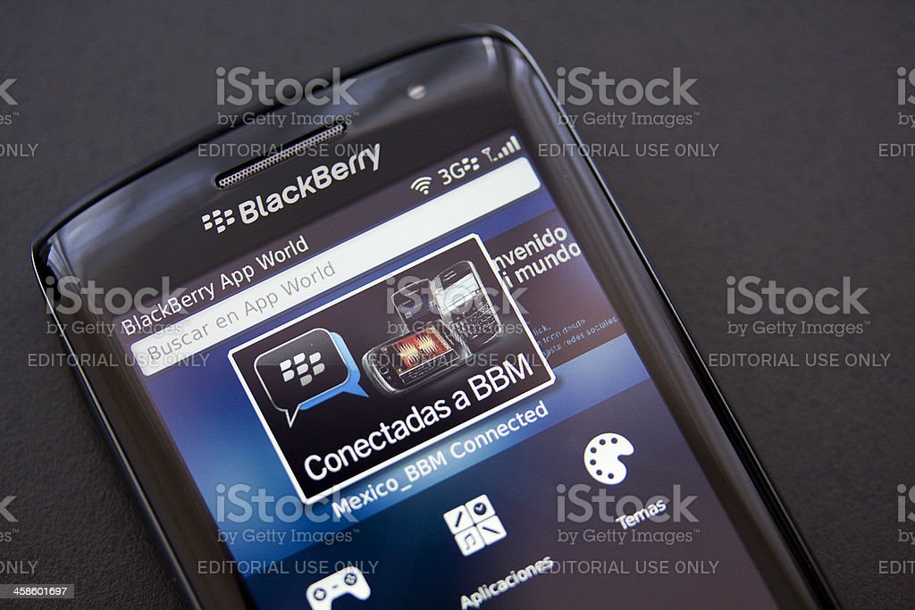app world at blackberry torch 9860 royalty-free stock photo