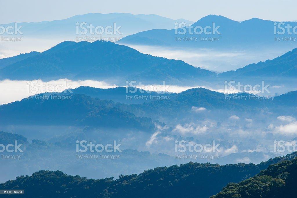 Appalachian Mountain Ridges stock photo