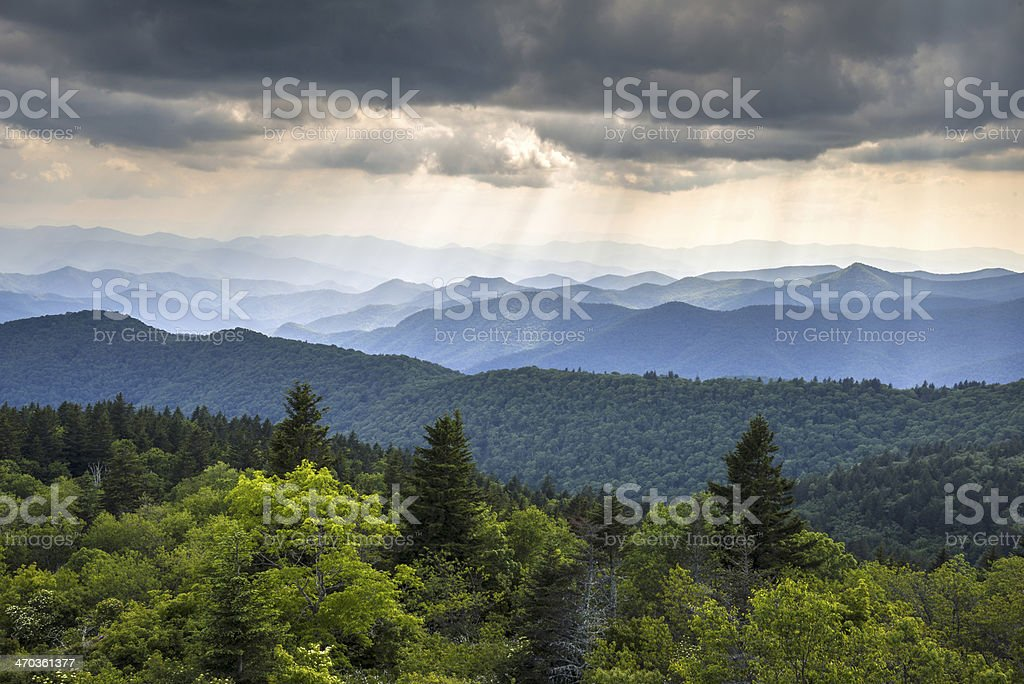 Appalachian Mountains Blue Ridge Parkway Western North Carolina Scenic Landscape stock photo