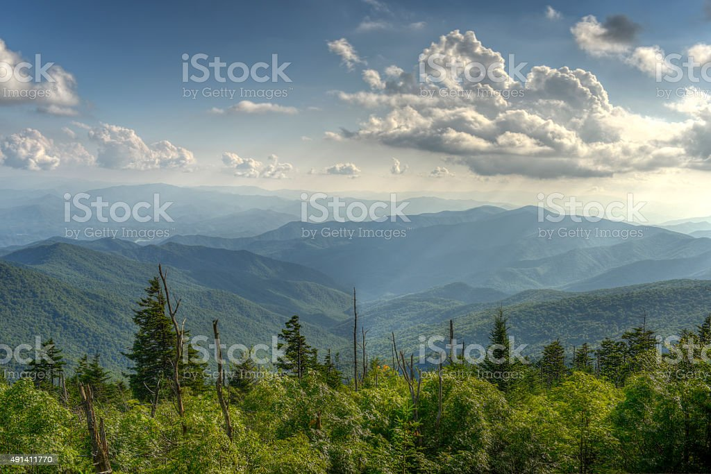 Appalachian Mountains in Great Smoky Mountains National Park stock photo