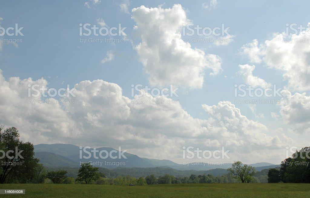 Appalachian sky royalty-free stock photo